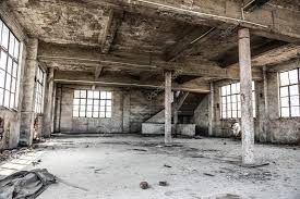 industrial loft empty industrial loft in an architectural background with bare