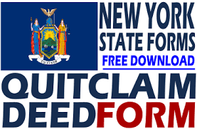 new york quit claim deed free quit claim deed form