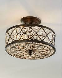 crystal semi flush mount lighting elk lighting amherst collection 4 light 13 antique bronze crystal
