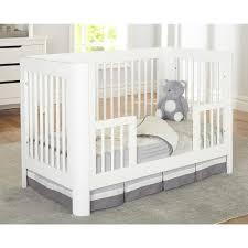 When To Convert Crib To Toddler Rail Sorelle Chandler Crib Toddler Rail In White