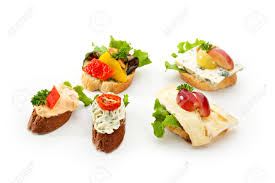 canapes fruit cheese canapes with vegetables and fruits stock photo picture and