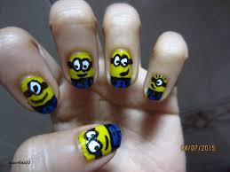 minion nail art tutorial for short nails mac elina