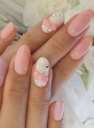 50 lovely pink and white nail art designs bow nail designs
