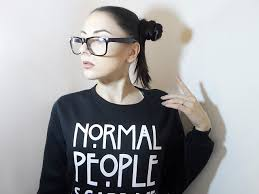 normal people scare me sweatshirt by zaful glam express