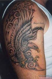 native american eagle tattoo on half sleeve tattoo viewer com