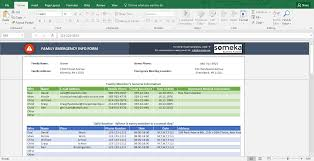 Excel Forms Template Emergency Contact Form Free Excel Spreadsheet Template