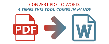 Pdf To Word Convert Pdf To Word 4 Times This Tool Comes In Handy Pdf Pro
