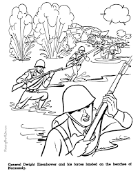 american history military coloring pages kid normandy wwii