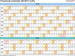 financial calendars 2016 17 uk in microsoft excel format