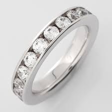 alliance en diamant astsella élégante alliance diamants tour complet ornée de