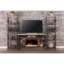 Fireplace Console Entertainment by Industrial Styled Furnishings This Fireplace Entertainment Unit