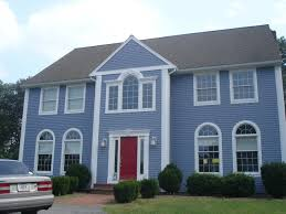 light exterior house colors red brick with paint blue idolza
