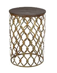 Drum Accent Table by Bright Event Rentals Morocco Accent Table 18 1 2