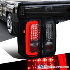 2005 gmc sierra tail lights gmc 14 17 sierra 1500 2500hd 3500hd glossy black led tail lights