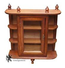 Curio Cabinet With Glass Doors Solid Walnut Wall Hanging Curio Cabinet Glass Door Shelf Rack