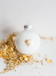 gold leaf diy ornaments weekly post wrap up hello glow