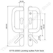 Upvc Patio Doors Uk 90pz Patio Door Handle Set For Fuhr Upvc Sliding Doors The