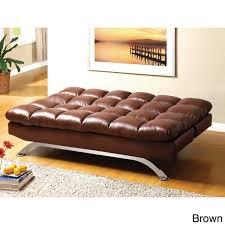 furniture of america pascoe bicast leather sofa futon free