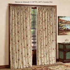 sweet floral pattern basement window curtains with yellow top also
