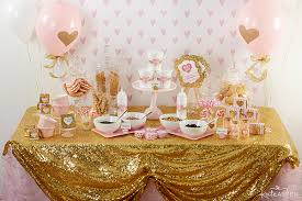 girl baby shower theme how to throw the cutest pink and gold baby shower kate aspen