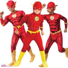 Flash Gordon Halloween Costume Kids Flash Deluxe Muscle Chest Superhero Dc Comics Boys Fancy