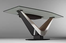 contemporary glass desks contemporary glass office desks glass