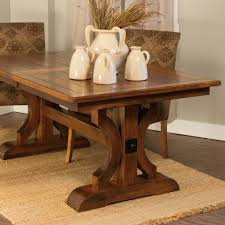 dining room trestle table barstow trestle extension table u2013 amish tables