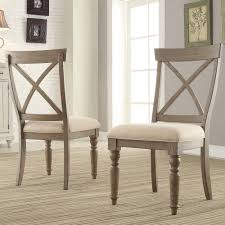 fabric dining chairs upholstered dining room seating humble abode aberdeen wood x back upholstered side chair each in weathered driftwood
