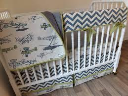 Vintage Aviator Crib Bedding Airplane Crib Bedding Boy Baby Bedding Bumperless Bedding