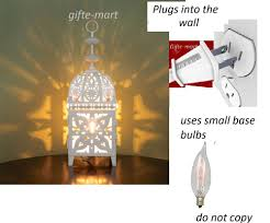 plug in candle night light plug in shabby white moroccan electric lantern bedside table l
