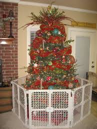 100 decorating christmas tree with mesh mesh ribbon