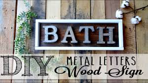 metal letters diy metal letters wood sign youtube