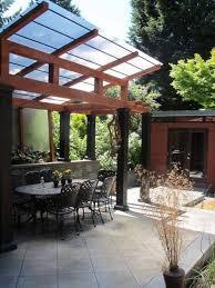 Pergola Roofing Ideas by Exterior Pergola Roof Material Kinds Plastic Pergola Roof