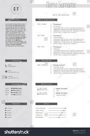art director resume sample vector creative resume template minimalistic gray stock vector vector creative resume template minimalistic gray and white style cv light infographic elements