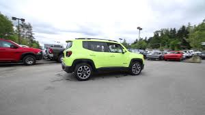green jeep 2017 2017 jeep renegade latitude hypergreen clearcoat pf09495
