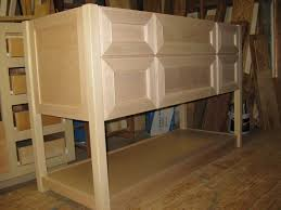 unfurnished and unfinished custom diy oak kitchen cabinet with