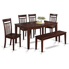 Amazoncom East West Furniture CAPSMAHW Piece Kitchen Table - Amazon kitchen tables