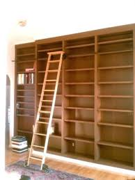 Bookcase Ladder Hardware Bookcase Library Bookshelves With Rolling Ladder Rolling