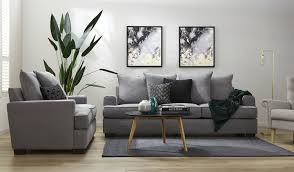 3 Seater 2 Seater Sofa Set Grey Fabric 3 And 2 Seater Sofas With Pillow Back Cushions Clover
