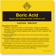buric acid boric acid ansi chemical label sku lb 1584 025