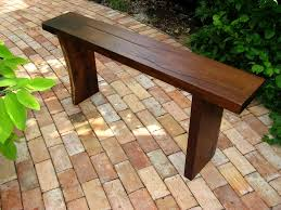 Rustic Outdoor Bench by Backyard Bench