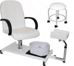 white pedicure station hydraulic chair u0026 massage foot spa beauty