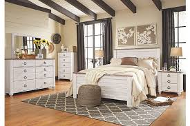Bed And Nightstand Willowton Queen Panel Bed Ashley Furniture Homestore