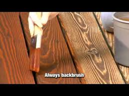 how to apply a clear toner or semi transparent wood stain youtube