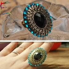 big fashion rings images Wholesale 24pcs lot fashion bronze big oval blue rhinestone jpg