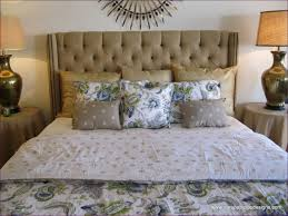 button tuck headboard bedroom marvelous upholstered headboards with diamond buttons