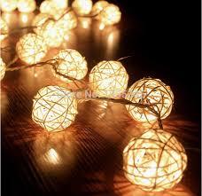 rattan ball fairy lights 5cm 20 storm cream white rattan ball fairy lights ideal wedding