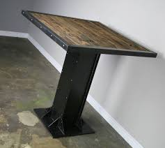 Distressed Wood Dining Table Buy A Hand Made Bistro Dining Table Modern Industrial Design