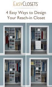 small closet organizer ideas 4 ways to design your reach in closet organizing fixing