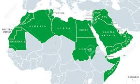 arab world political map also called arab nation consists of